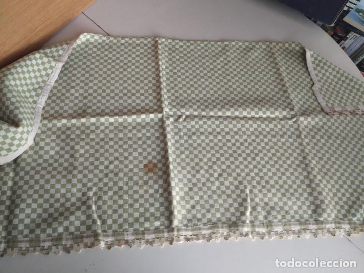 Antigüedades: 4 antiguas piezas de cortina y tapetes, o camino, cubre estanterías, muebles, bordados a mano,borlas - Foto 17 - 244012765