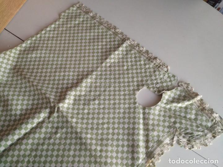 Antigüedades: 4 antiguas piezas de cortina y tapetes, o camino, cubre estanterías, muebles, bordados a mano,borlas - Foto 18 - 244012765