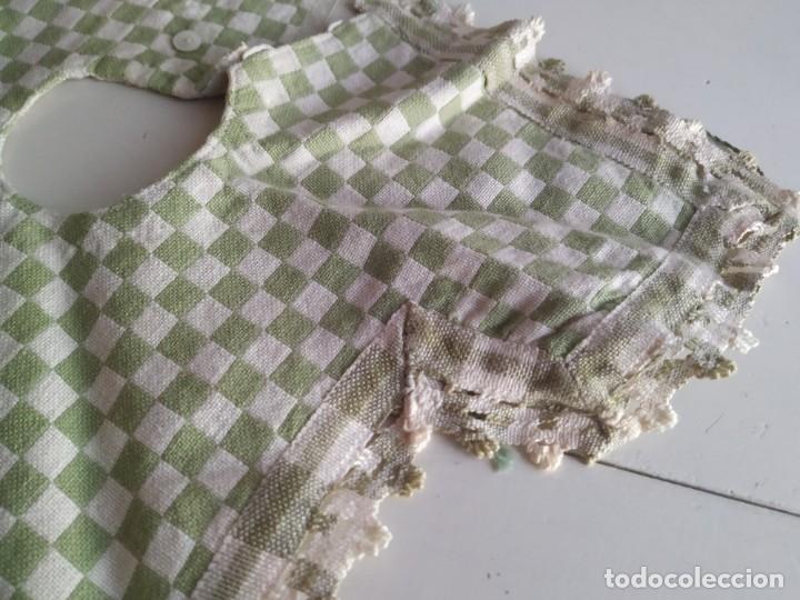 Antigüedades: 4 antiguas piezas de cortina y tapetes, o camino, cubre estanterías, muebles, bordados a mano,borlas - Foto 19 - 244012765