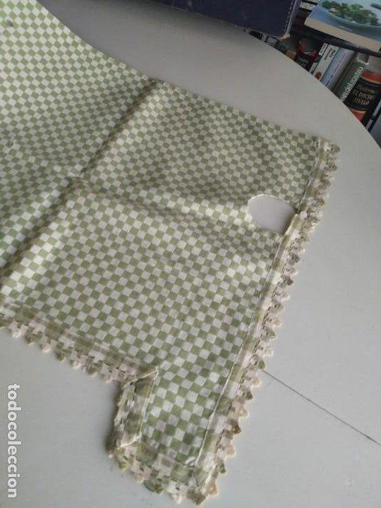 Antigüedades: 4 antiguas piezas de cortina y tapetes, o camino, cubre estanterías, muebles, bordados a mano,borlas - Foto 23 - 244012765