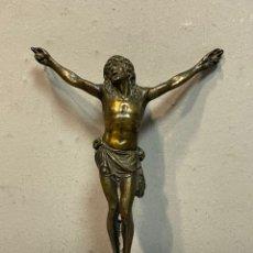 Antigüedades: CRISTO DE LATÓN PARA CRUZ. Lote 244019855