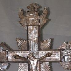 Antigüedades: ANTIGUA CRUZ DE JERUSALÉN DE NACAR O MADREPERLA. Lote 244175515