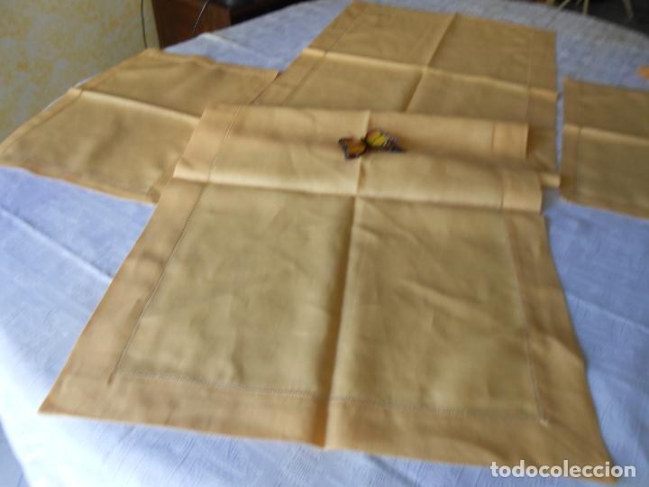Antigüedades: Mantel tipo camino y tu y yo.Lino puro 100% Color Vainilla 50 x 150 cm + 2 x 30 x 45 cm.Nuevo - Foto 16 - 244202945