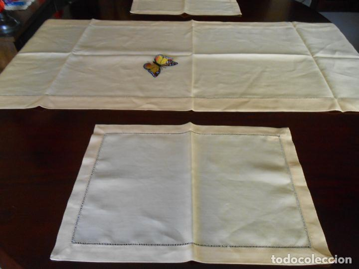 Antigüedades: Mantel tipo camino y tu y yo.Lino puro 100% Color Vainilla 50 x 150 cm + 2 x 30 x 45 cm.Nuevo - Foto 18 - 244202945