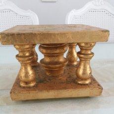 Oggetti Antichi: BASE, PEANA, ESTANTE (PAN DE ORO). Lote 244244450