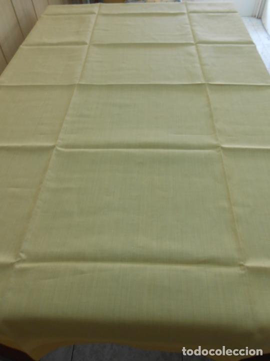 Antigüedades: Mantel antiquo de Lino puro 100% Color Vainilla 100 x 150 cm.Nuevo - Foto 4 - 244379005