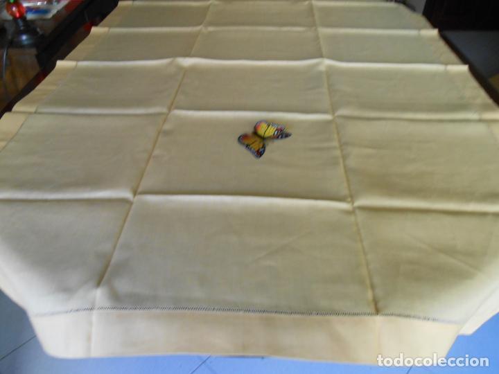 Antigüedades: Mantel antiquo de Lino puro 100% Color Vainilla 100 x 150 cm.Nuevo - Foto 11 - 244379005