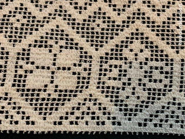 Antigüedades: 3,5 metros de encaje o puntilla x 15 cms de ancho. Preciosa e impecable - Foto 5 - 244402055