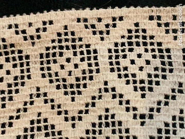 Antigüedades: 4 metros de encaje o puntilla x 8 cms de ancho. Preciosa e impecable - Foto 2 - 244403090