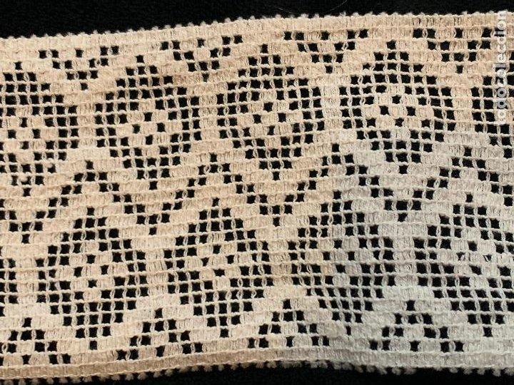 Antigüedades: 4 metros de encaje o puntilla x 8 cms de ancho. Preciosa e impecable - Foto 5 - 244403090
