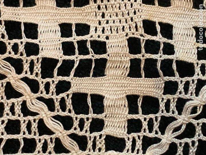 Antigüedades: 18 metros de encaje o puntilla x 9 cms de ancho. Preciosa e impecable - Foto 9 - 244409750