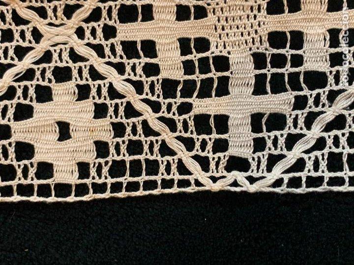 Antigüedades: 18 metros de encaje o puntilla x 9 cms de ancho. Preciosa e impecable - Foto 10 - 244409750