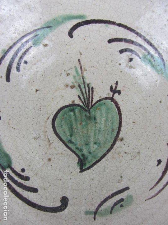 Antigüedades: Cuenco en cerámica de Teruel - Siglo XIX - Foto 2 - 244410820