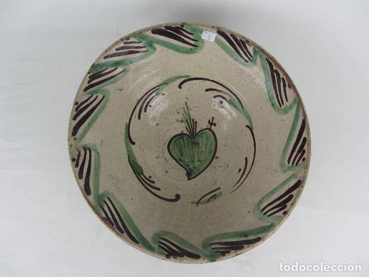 CUENCO EN CERÁMICA DE TERUEL - SIGLO XIX (Antigüedades - Porcelanas y Cerámicas - Teruel)