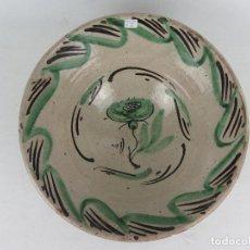 Antigüedades: CUENCO EN CERÁMICA DE TERUEL - SIGLO XIX. Lote 244411125