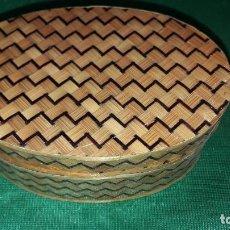 Antigüedades: CAJA DE PAJA. Lote 244418795