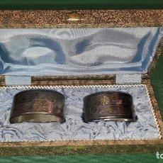Oggetti Antichi: SERVILLETEROS DE ALPACA. Lote 244419840