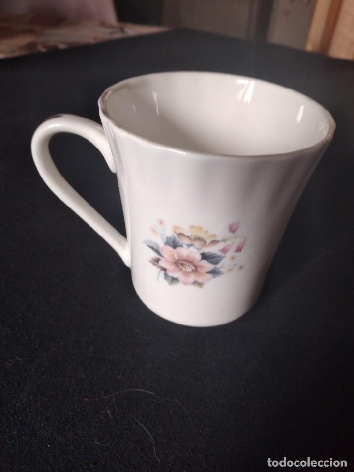 Antigüedades: Preciosa taza de té o desayuno de porcelana queensway fine bone china,made in england,flores - Foto 4 - 244424340