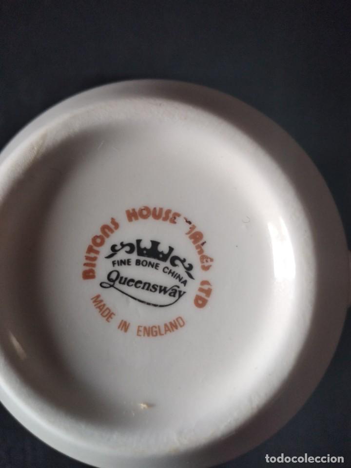 Antigüedades: Preciosa taza de té o desayuno de porcelana queensway fine bone china,made in england,flores - Foto 5 - 244424340