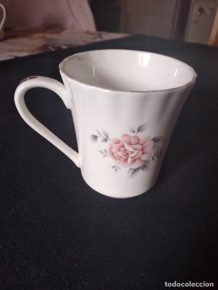 Antigüedades: Preciosa taza de té o desayuno de porcelana queensway fine bone china,made in england,flores - Foto 3 - 244424470