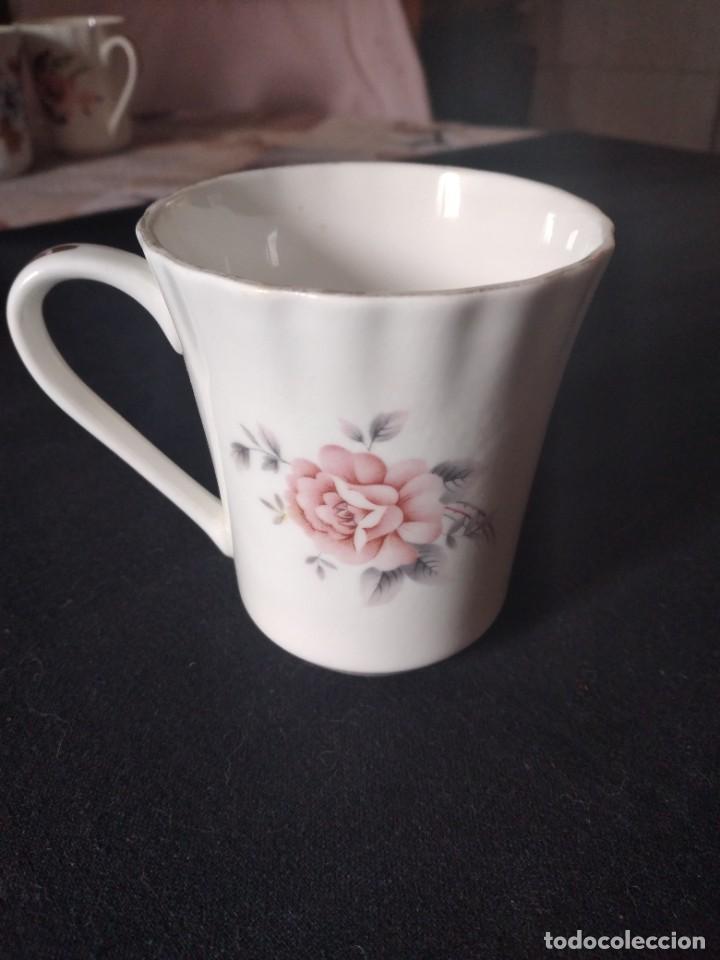 Antigüedades: Preciosa taza de té o desayuno de porcelana queensway fine bone china,made in england,flores - Foto 4 - 244424470