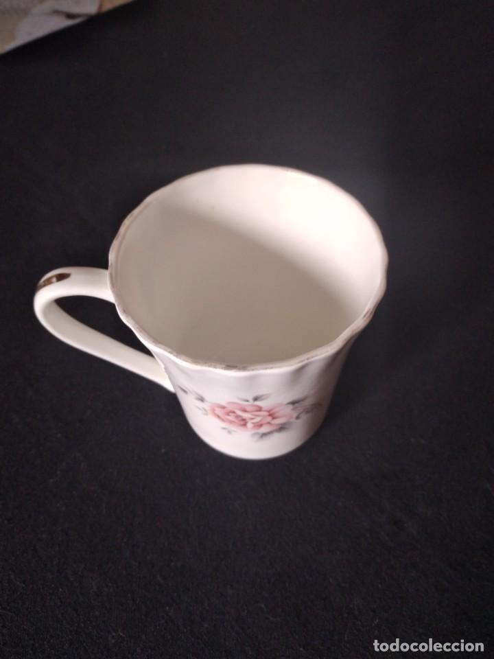 Antigüedades: Preciosa taza de té o desayuno de porcelana queensway fine bone china,made in england,flores - Foto 5 - 244424470