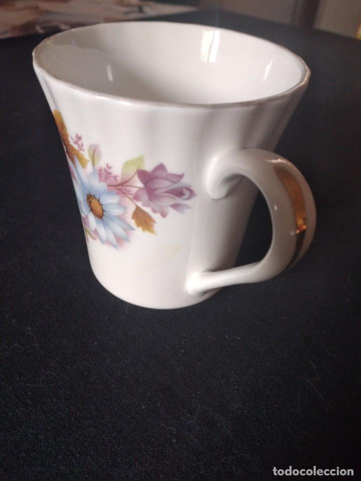Antigüedades: Preciosa taza de té o desayuno de porcelana queensway fine bone china,made in england,flores - Foto 4 - 244424585