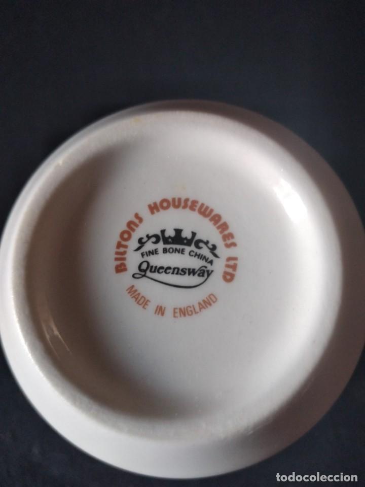Antigüedades: Preciosa taza de té o desayuno de porcelana queensway fine bone china,made in england,flores - Foto 6 - 244424585