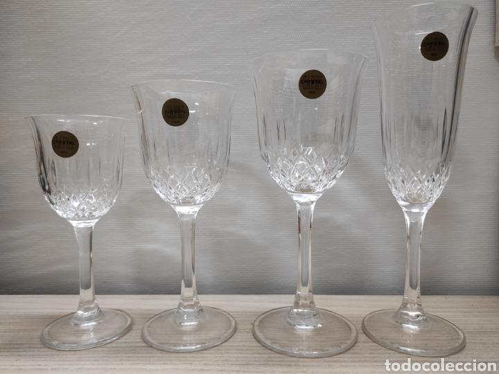 Antigüedades: Conjunto cristalería copas Concerto Cristal Capri. 24 piezas. Vintage - Foto 3 - 244432725