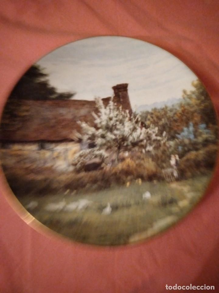 Antigüedades: Plato de porcelana coalport country cottages,gansos en el campo - Foto 3 - 244433970