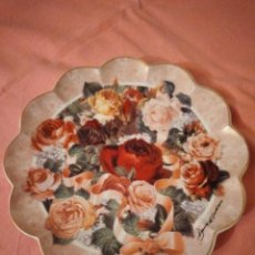 Antigüedades: PRECIOSO PLATO DE PORCELANA FRANKLIN MINT HEIRLOOM,VICTORIAN ROSE BOUQUET LIMITED EDITION. Lote 244434660