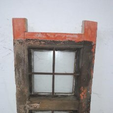 Antigüedades: ANTIGUA VENTANA DOBLE CON REJA FORJA. Lote 244445540