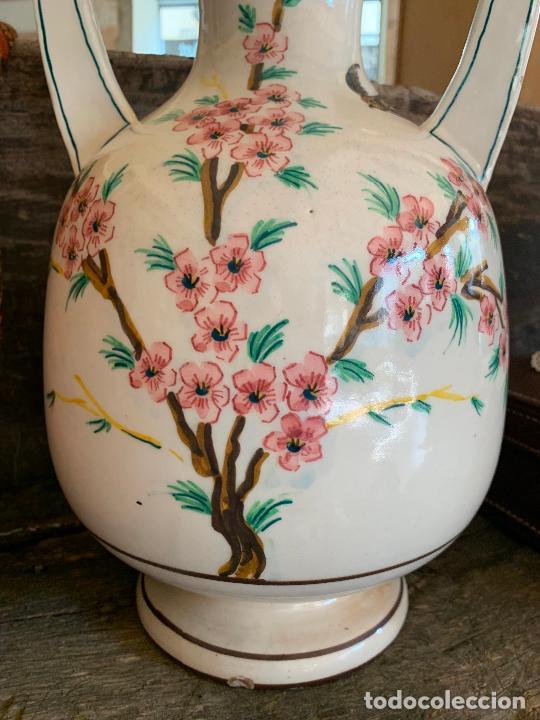 Antigüedades: Extraordinario gran jarron antiguo tipo anfora de ceramica. 41cms alto x 22cm diametro. Numerado. - Foto 2 - 244490495