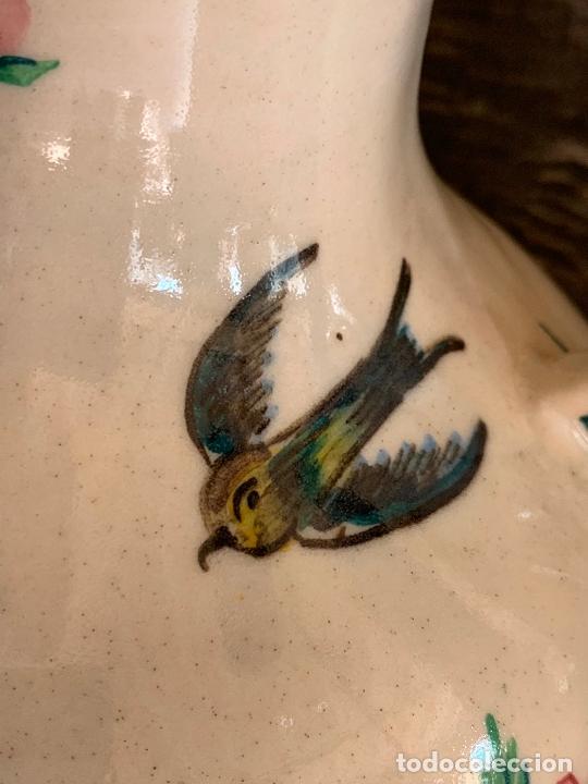 Antigüedades: Extraordinario gran jarron antiguo tipo anfora de ceramica. 41cms alto x 22cm diametro. Numerado. - Foto 3 - 244490495