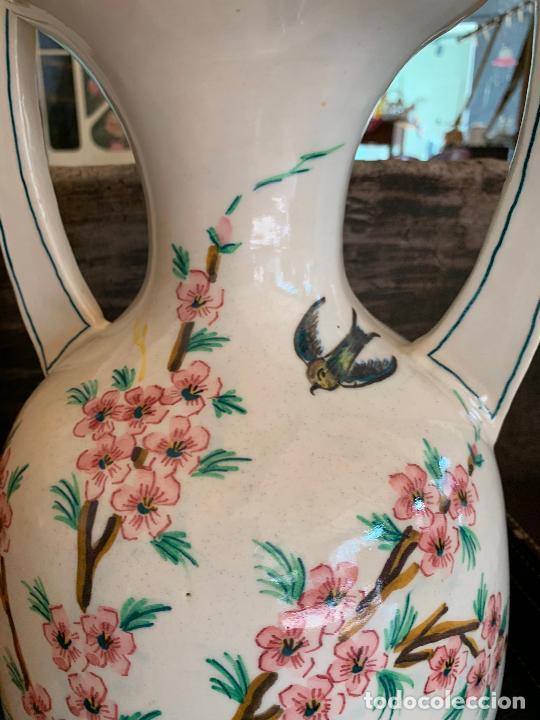 Antigüedades: Extraordinario gran jarron antiguo tipo anfora de ceramica. 41cms alto x 22cm diametro. Numerado. - Foto 5 - 244490495