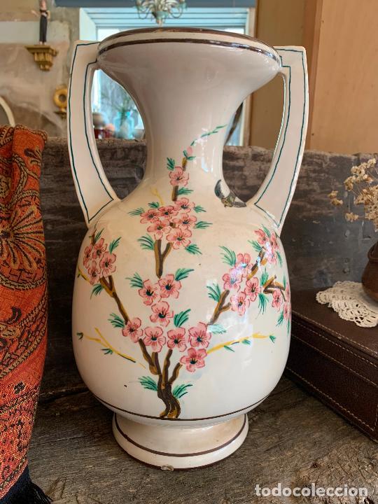 Antigüedades: Extraordinario gran jarron antiguo tipo anfora de ceramica. 41cms alto x 22cm diametro. Numerado. - Foto 6 - 244490495