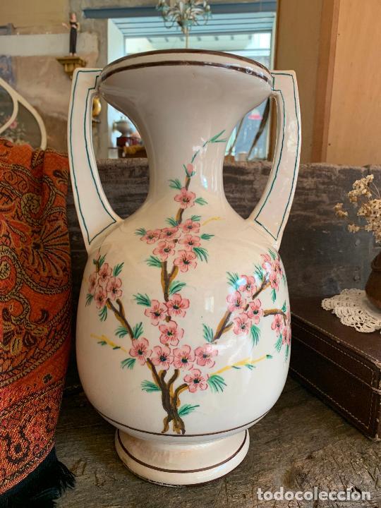 Antigüedades: Extraordinario gran jarron antiguo tipo anfora de ceramica. 41cms alto x 22cm diametro. Numerado. - Foto 7 - 244490495