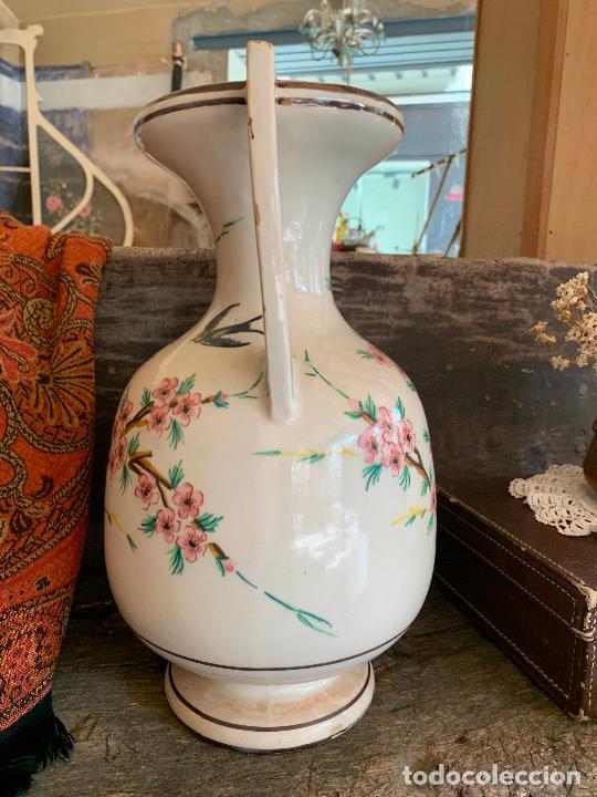 Antigüedades: Extraordinario gran jarron antiguo tipo anfora de ceramica. 41cms alto x 22cm diametro. Numerado. - Foto 8 - 244490495