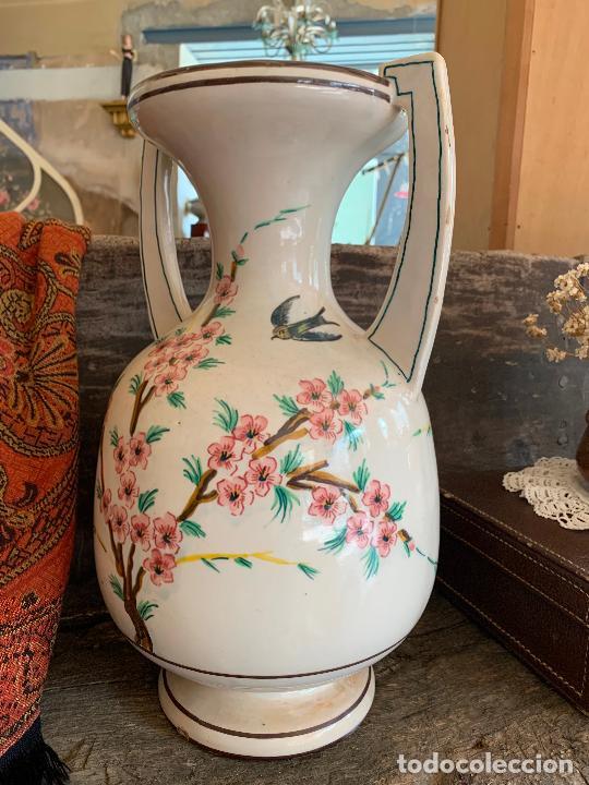 Antigüedades: Extraordinario gran jarron antiguo tipo anfora de ceramica. 41cms alto x 22cm diametro. Numerado. - Foto 9 - 244490495