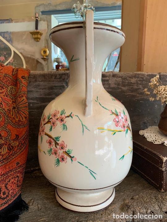 Antigüedades: Extraordinario gran jarron antiguo tipo anfora de ceramica. 41cms alto x 22cm diametro. Numerado. - Foto 11 - 244490495