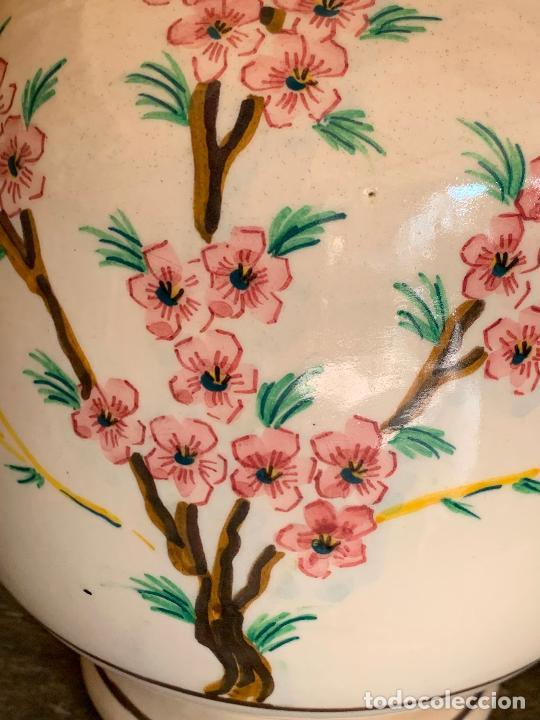 Antigüedades: Extraordinario gran jarron antiguo tipo anfora de ceramica. 41cms alto x 22cm diametro. Numerado. - Foto 16 - 244490495