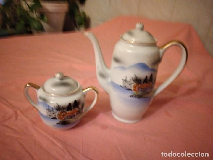 CAFETERA Y AZUCARERO DE PORCELANA KUTANI CHINA MADE IN JAPAN (Antigüedades - Porcelana y Cerámica - Japón)