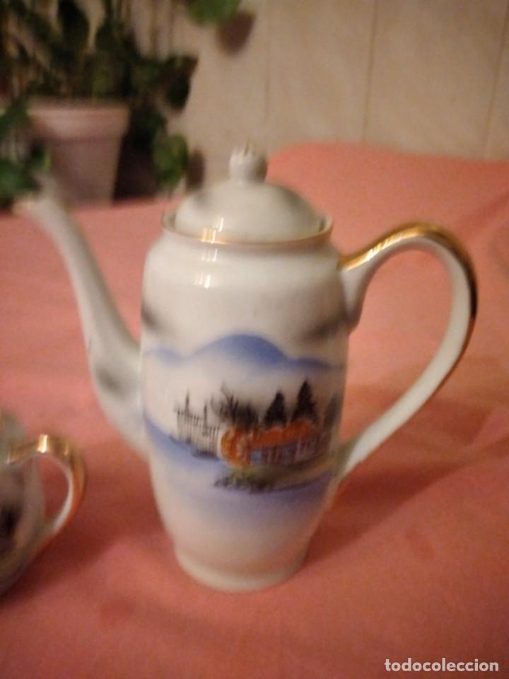 Antigüedades: Cafetera y azucarero de porcelana kutani china made in japan - Foto 2 - 244504905