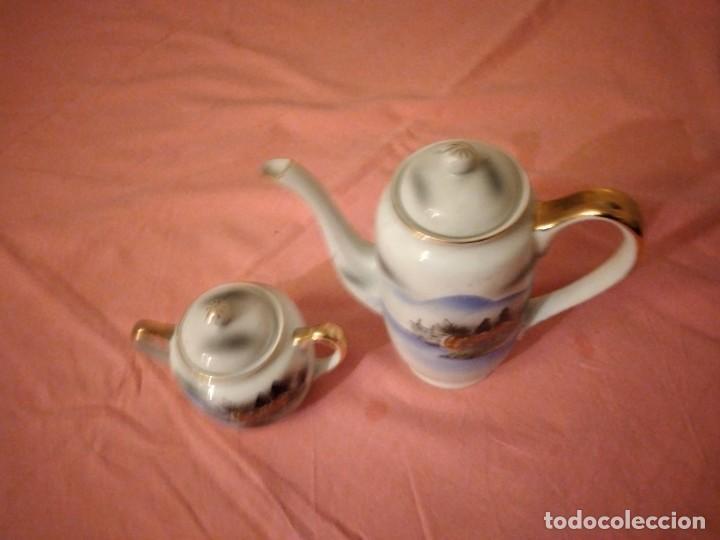 Antigüedades: Cafetera y azucarero de porcelana kutani china made in japan - Foto 3 - 244504905