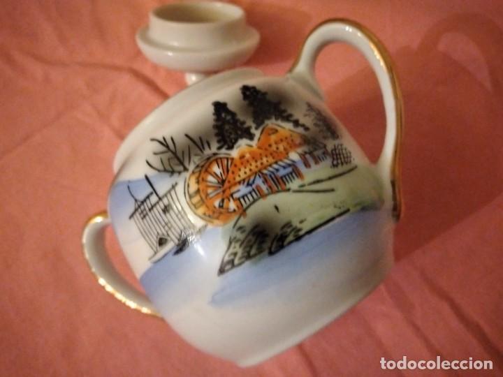 Antigüedades: Cafetera y azucarero de porcelana kutani china made in japan - Foto 4 - 244504905