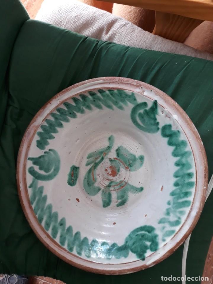 LEBRILLO PESTIÑERO FAJALAUZA VERDE GRANADINO DIAMETRO 34 (Antigüedades - Porcelanas y Cerámicas - Fajalauza)