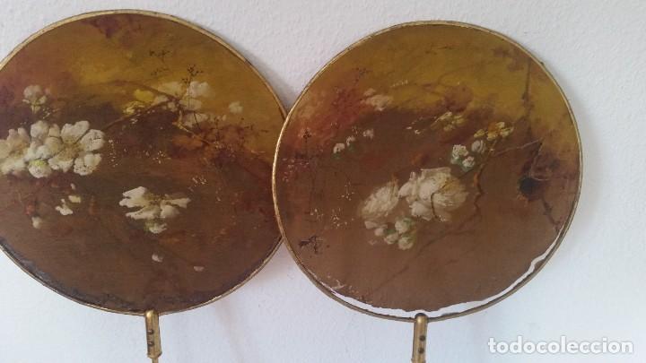 Antigüedades: DE COLECION ANTIGUIOS ABANICOS MAD CHINA HECHOS Y PINTADOS A MANO - Foto 2 - 244540545