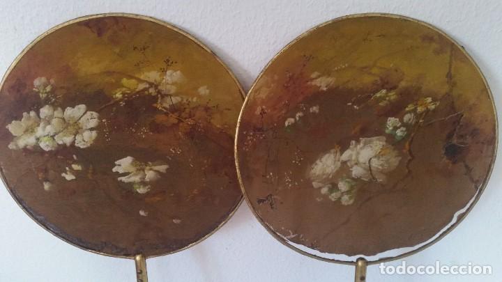 Antigüedades: DE COLECION ANTIGUIOS ABANICOS MAD CHINA HECHOS Y PINTADOS A MANO - Foto 3 - 244540545
