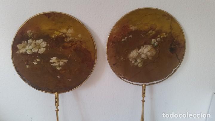 Antigüedades: DE COLECION ANTIGUIOS ABANICOS MAD CHINA HECHOS Y PINTADOS A MANO - Foto 4 - 244540545