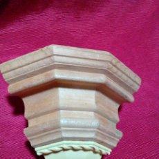 Antigüedades: MENSULA DE MADERA Y RESINA. Lote 244541700